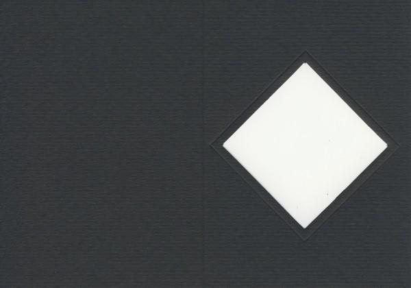 Fensterkarte A6 Raute schwarz