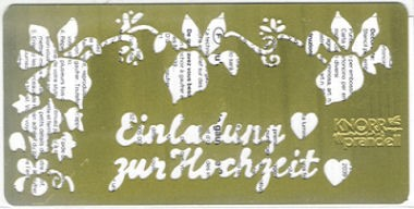 Embossingschablone Einladung Hochzeit