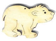 Holz-Deko Eisbär 5cm