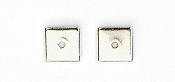 Metallzwischenteil platin 1x8x8mm 10 Stück