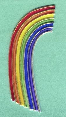 Wachsdekor Regenbogen 16cm