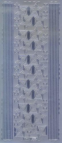 Sticker Weihnachtsecken und Linien silber