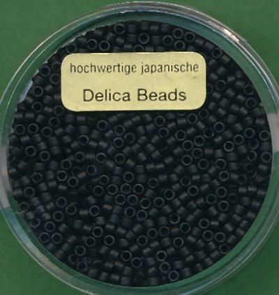 Delica Beads 2mm matt schwarz