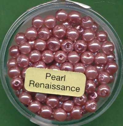Glaswachsperlen 4mm rosa