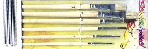 Schulmalpinsel Set