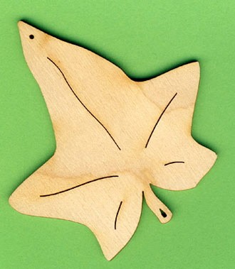 Holz-Deko Eichenblatt 9cm