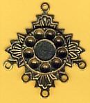 Anhänger altgold Blatt-Medaillon