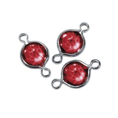 Swarovski Schmuck-Accessoires rund rot