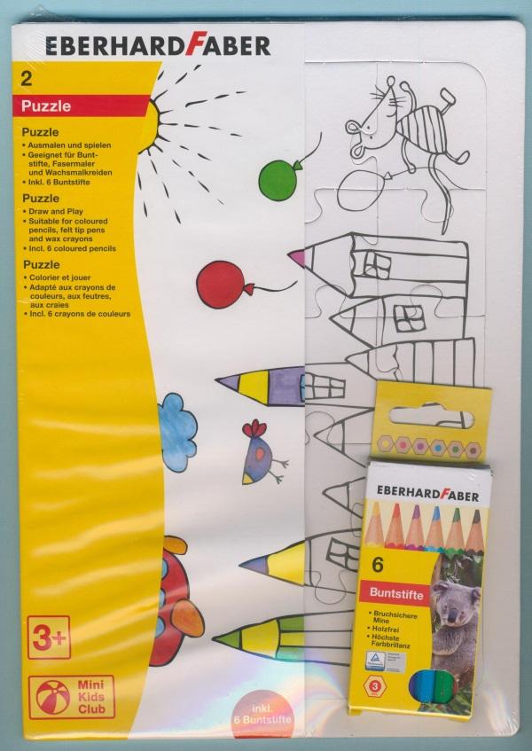 Puzzle 2 Stück zum Ausmalen und Spielen | Bastelshop Farbklecks