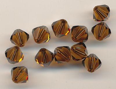 Swarovski Glasschliffperlen 6mm smoked topas