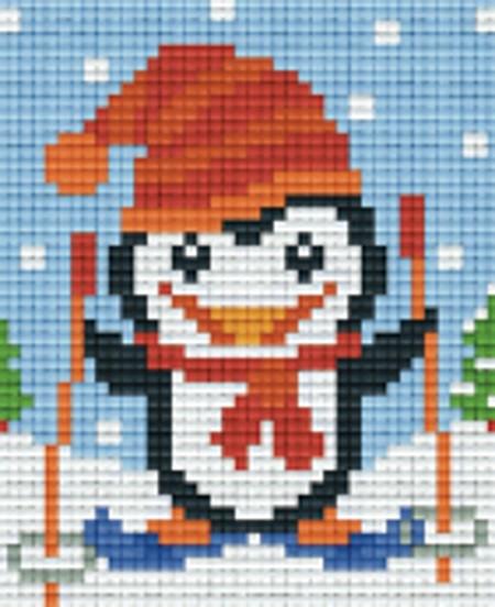 Set Pinguin mit Ski