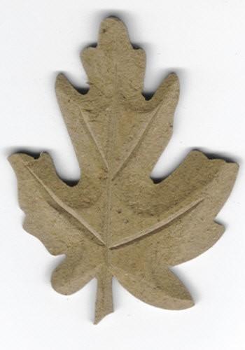 Holz-Dekor Eichenblatt