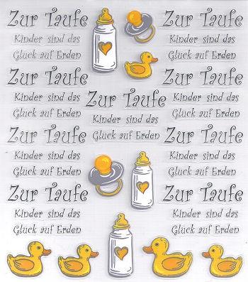 Hobby-Design Sticker Zur Taufe