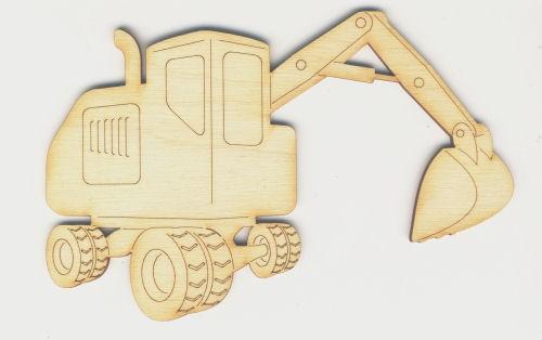 Holz-Deko Bagger 10cm