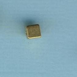 57297a_Metallperle-Würfel-4mm-echt-vergoldet