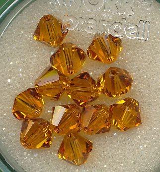 Swarovski Glasschliffperlen 6mm topas