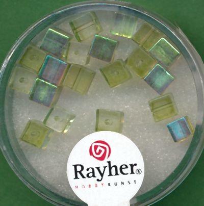 Glasschliffwürfel 4mm hellgrün