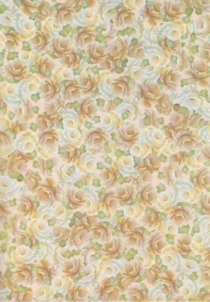 Transparentpapier Rosen beige