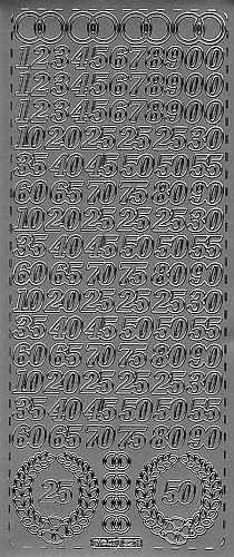 Sticker Jubiläum silber