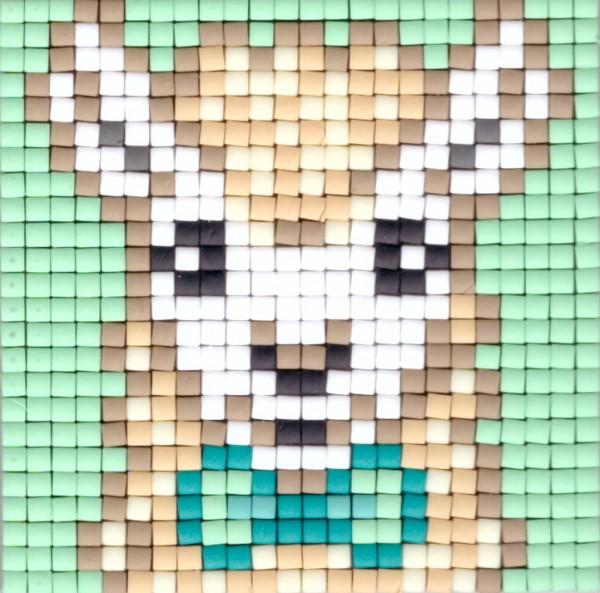 px77692_Lama, Pixelset, kleine Basisplatte
