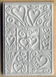 Stempel Mosaik mit Herzen