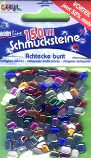 Schmucksteine-Set Achtecke bunt