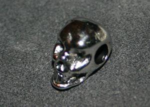 Metallperle Charms SkulI silber