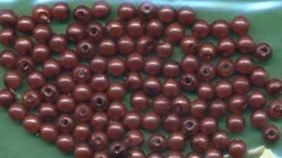 Wachsperlen 4mm braun