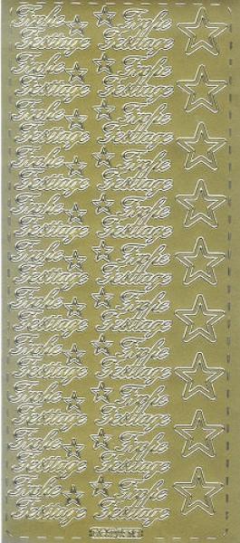 Sticker Frohe Festtage 2 gold