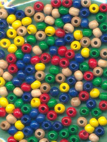 1400200_Holzperlen-4mm-farbsortiert-150-Stück