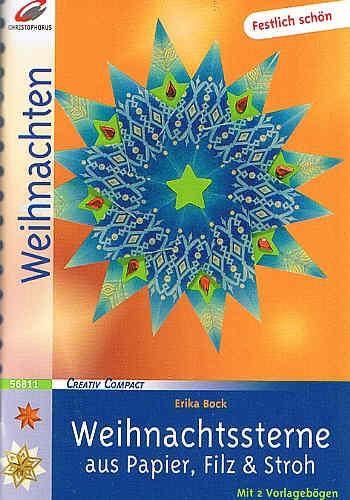 Buch Weihnachtssterne aus Papier, Filz & Stroh