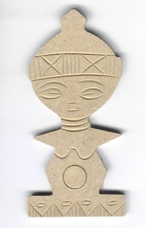 Holz-Dekor Afrikanisches Symbol
