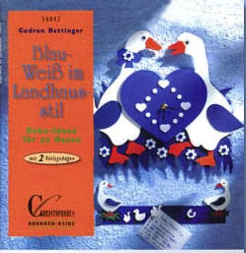 Buch Blau-Weiß im Landhausstil