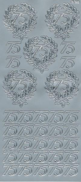 Sticker 75 silber