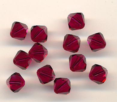 Swarovski Glasschliffperlen 6mm ruby