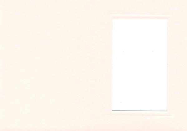 Fensterkarte A6 Rechteck lachs