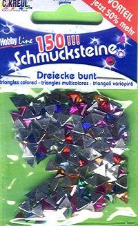 Schmucksteine-Set Dreiecke bunt