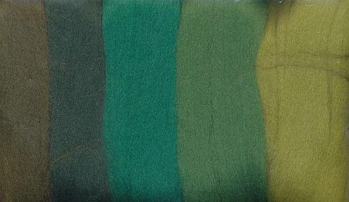 Merinowolle grün töne 50g