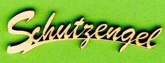 Holz-Schriftzug Schutzengel