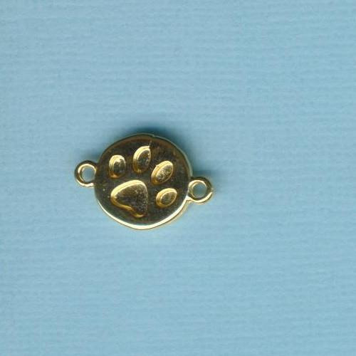 mp20412_Metallzwischenteil-Pfote-16,5x11,5mm-vergoldet