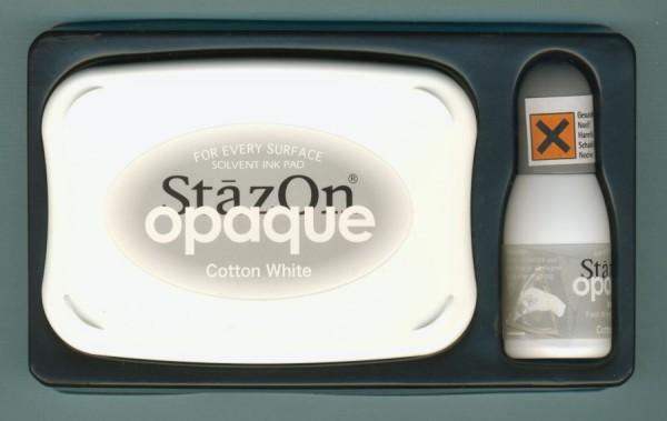 28380102 StazOn Set Stempelkissen und Nachfüllfarbe weiß