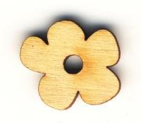 Holz-Deko Blüte 20mm