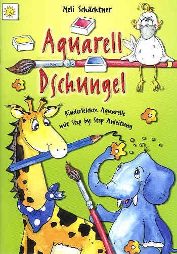 Buch Aquarell Dschungel