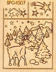 Stempel Weihnachtselch 2