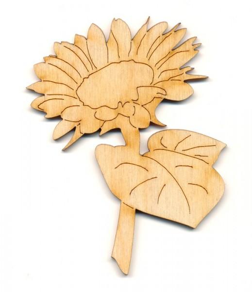 Holz-Deko Sonnenblume mit Stil
