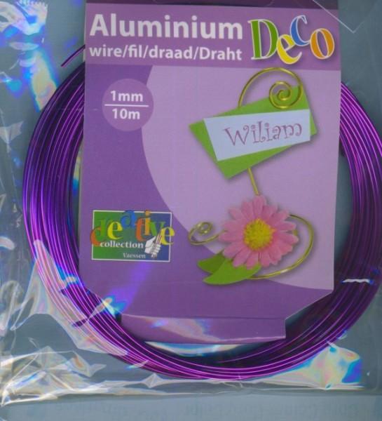 Aludraht 1mm lila 10m