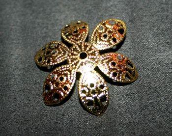 Perlkappe gold 30mm