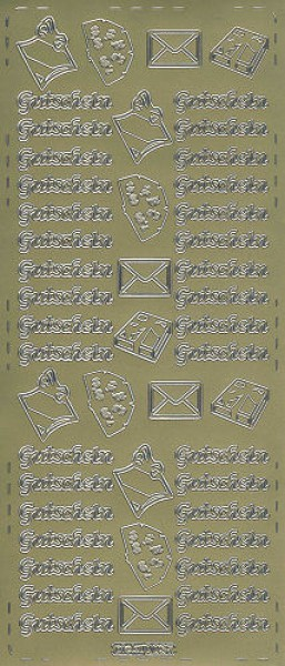 Sticker Gutschein 2 gold