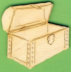 Holz-Deko Schatztruhe 6cm
