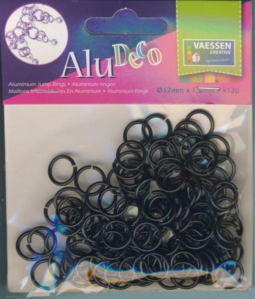 3901509_Alu-Deco-Jewelry-Aluminium-Ringe-12mm-schwarz-120-Stück